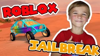 MY SUPER FUN DUNE BUGGY in ROBLOX JAILBREAK / BIG SQUAD ROBBING THE CITY!
