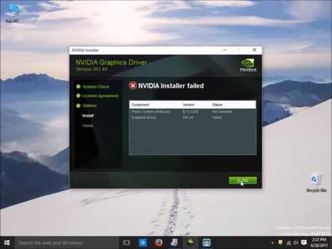 How to fix nvidia installer cannot continue and nvidia installer failed