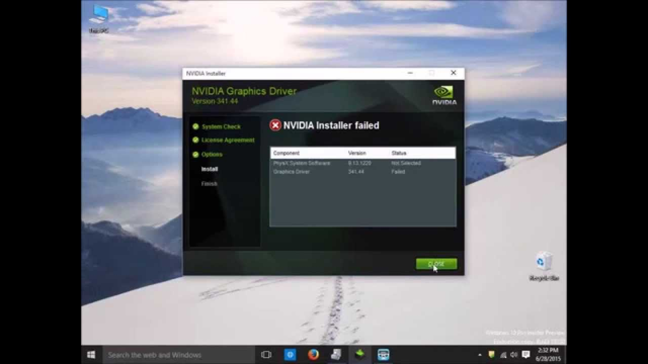 geforce experience failed to install