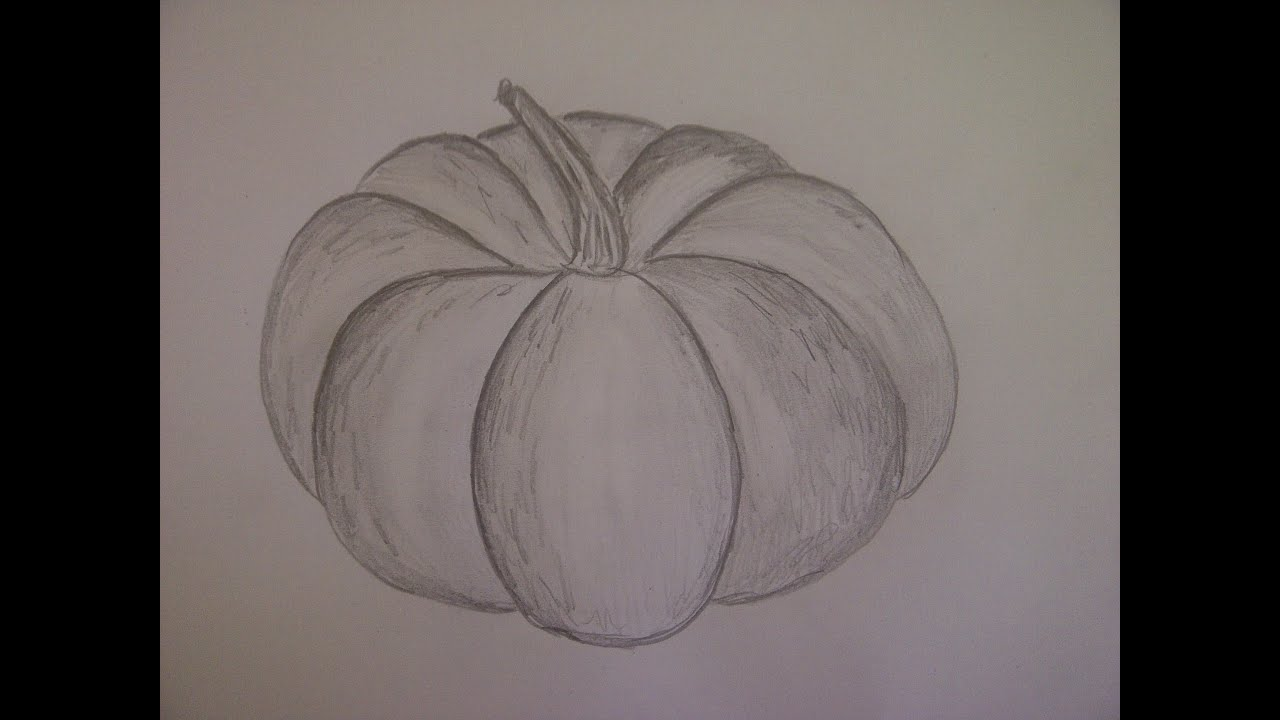 Como dibujar una calabaza de halloween un dibujo para - Como vaciar una calabaza ...