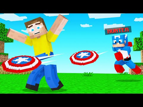 Captain AMERICA VS SPEEDRUNNER In Minecraft!