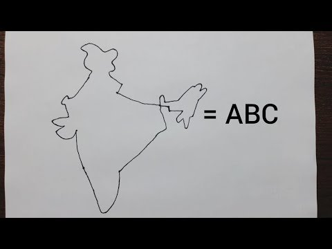 Easy Trick To Draw The Map Of India