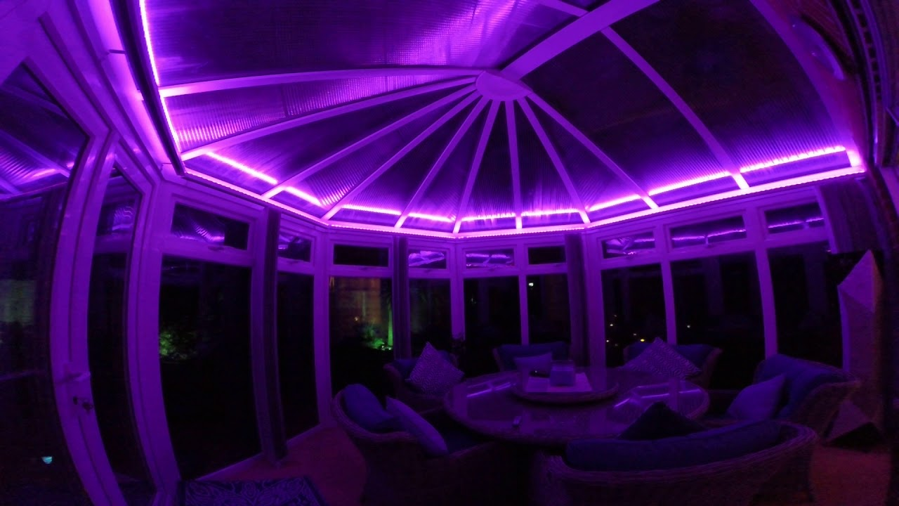 Rgb Led Strip Lights In The Conservatory