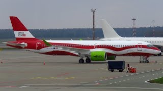 Short Planespotting at Riga Airport: Air Baltic A220, Aeroflot A320, UTAir 737 & more!