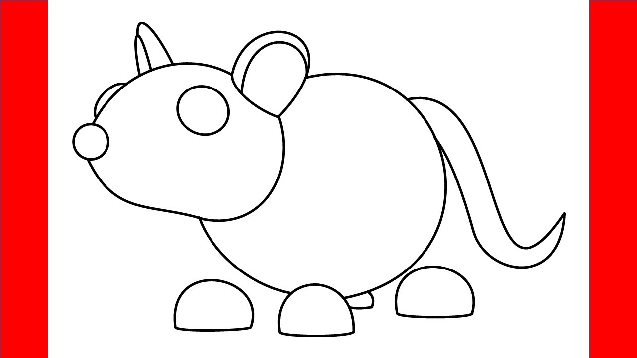 How To Draw Golden Rat From Roblox Adopt Me - Step By Step ...