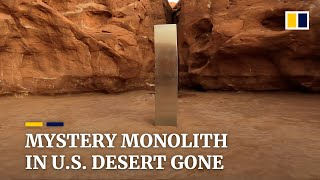 Mystery metal pillar found in US desert disappears
