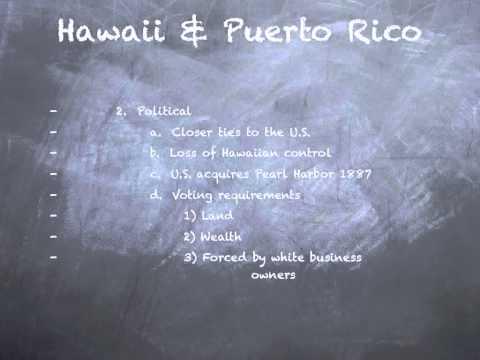 Hawaii and Puerto Rico