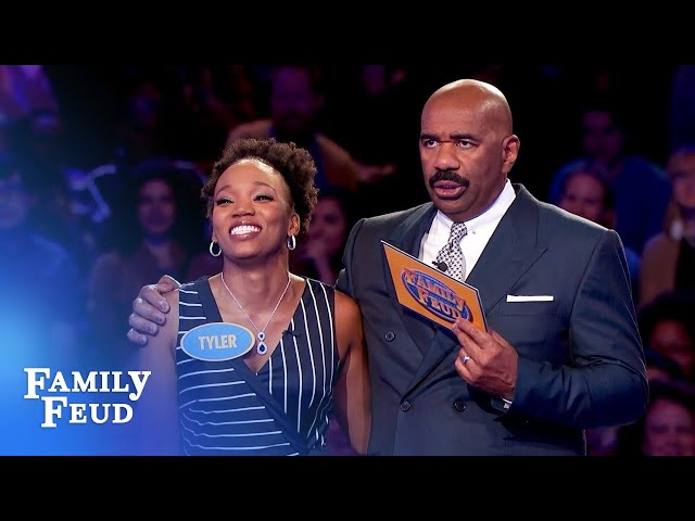 BEAUTY and BRAINS! Miss California's fantastic Fast Money! | Family Feud