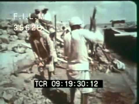 Vintage Suez Canal (stock footage / archival footage)