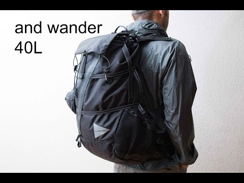 and wander 40L Backpack review
