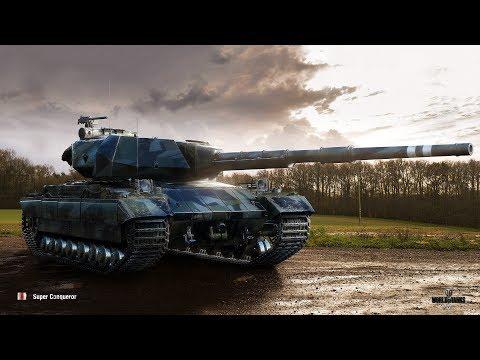 """Super Conqueror на улучшенном оборудовании - Стиль """"часовой"""" World Of Tanks"""