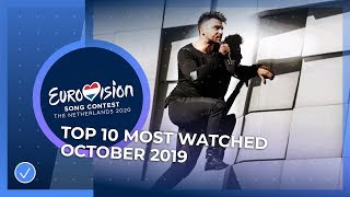 TOP 10: Most watched in October 2019 - Eurovision Song Contest
