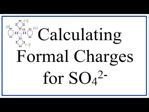 Calculating SO42- Formal Charges: Calculating Formal Charges for the Sulfate Ion