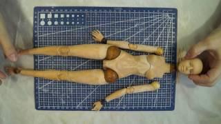 Шарнирная кукла своими руками с нуля часть 11. Коленные и локтевые шарниры