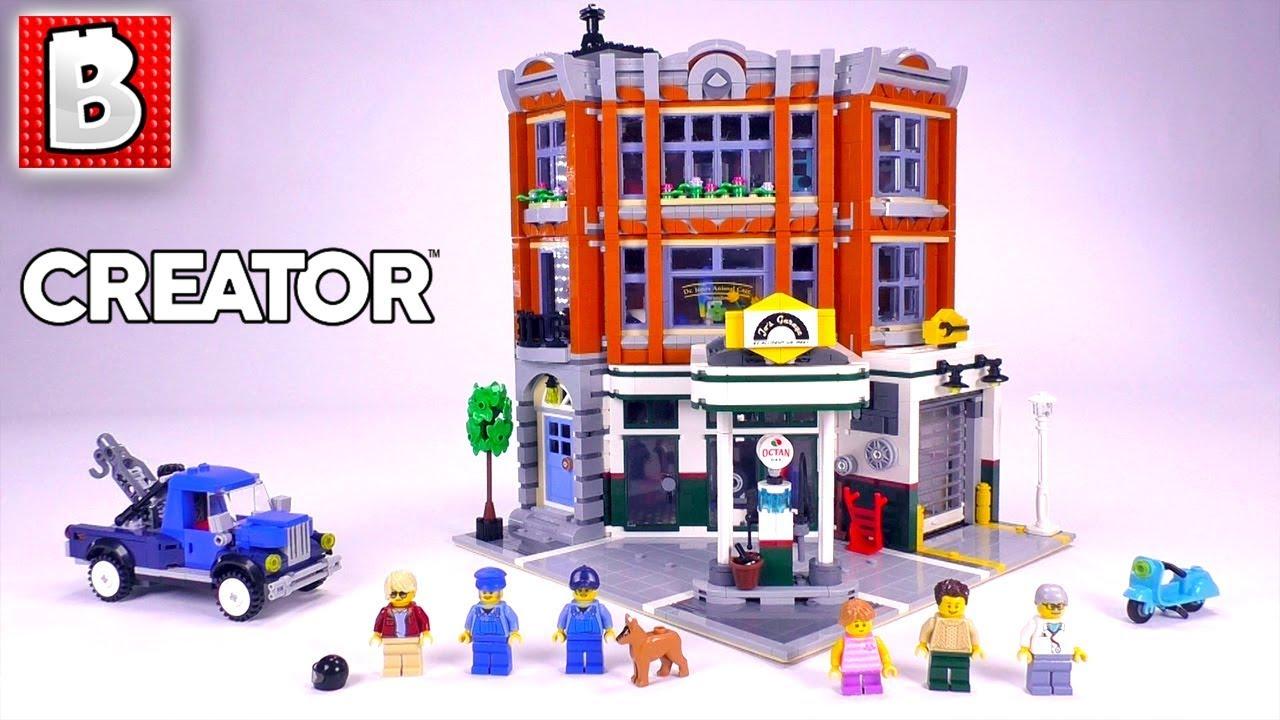 lego corner garage review creator 2019 set 10264 youtube. Black Bedroom Furniture Sets. Home Design Ideas