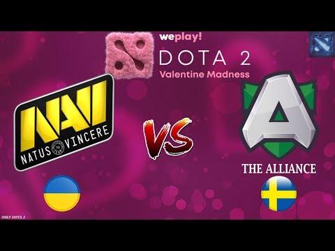 ЛЕГЕНДАРНАЯ ВСТРЕЧА!   Na'Vi vs Alliance (BO3 - СЕРИЯ)   WePlay! Dota 2 Valentine Madness thumbnail