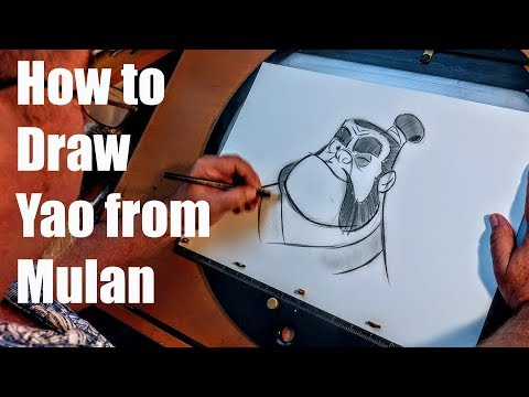 Animation - How to draw Yao from Mulan