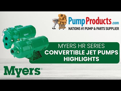 Myers HR Series Convertible Jet Pump Product Highlight