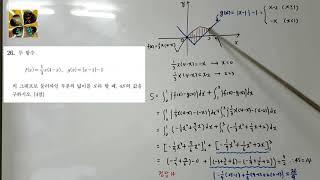 1등급 컷 문제-2020수능 나형, 수학2(다항함수의 …