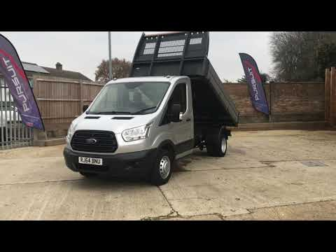 2014 64 FORD TRANSIT 2.2 350 Single Cab Tipper DRW 153 BHP with air con £12,750 + vat