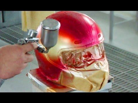 画像: Helmet Painting /ヒョウ柄&キャンディ/グラデーション&レインボー塗装/ヘルメット塗装 youtu.be
