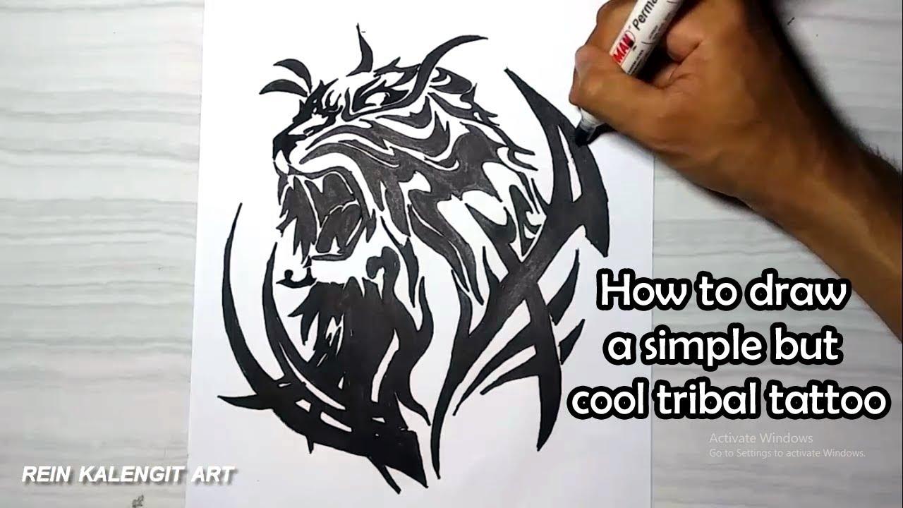 Cara Menggambar Tatto Tribal 14 Simpel Namun Keren