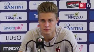 Dal ritiro di pinzolo la conferenza stampa presentazione del nuovo centrocampista rossoblù.