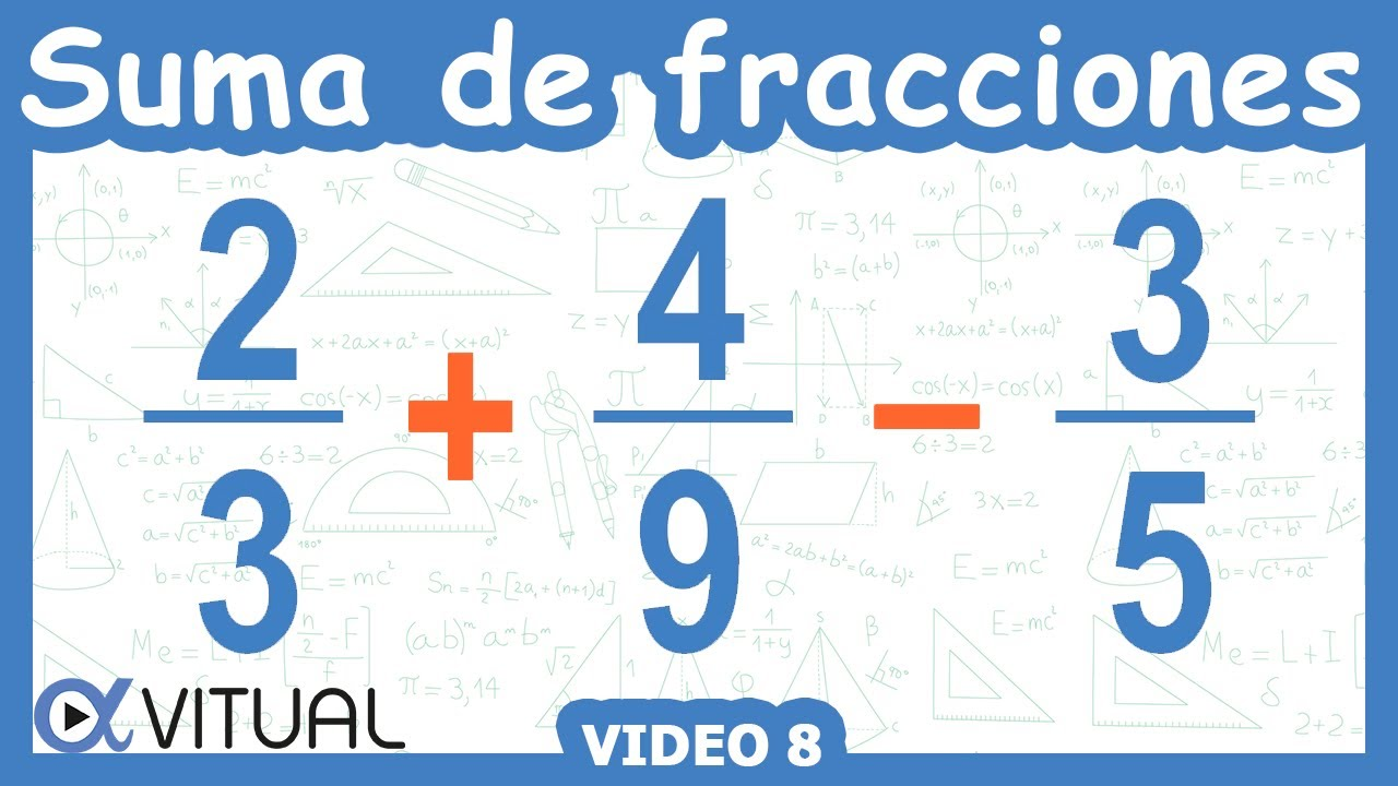 Suma y resta de 3 fracciones con diferente denominador | Aritmética ...