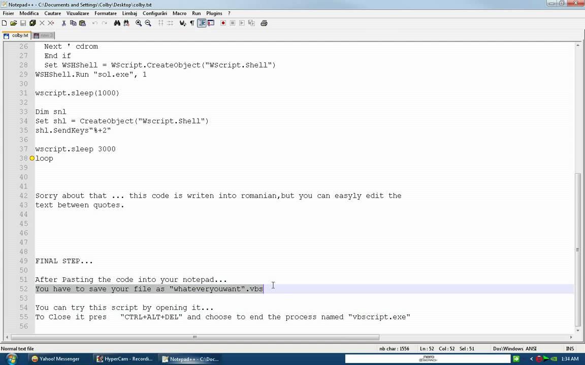 best fake virus vbs script