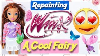 A COOL FAIRY - REPAINTING WINX CLUB DOLL / How to CustomizeTutorial by Poppen Atelier