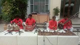 Instrumental music | sitar | Santoor | Jal Tarang | Tabla | by M. A. Musical Group at Le Meridien