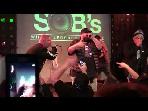 """""""Black Helicopters"""" Non-Phixion / La Coka Nostra live at SOBs NYC 2017-03-17"""