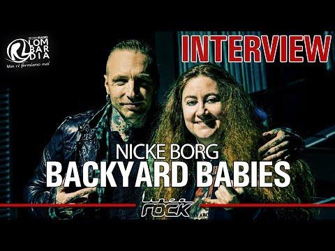 BACKYARD BABIES - Nicke Borg interview @ Linea Rock 2017 by Barbara Caserta
