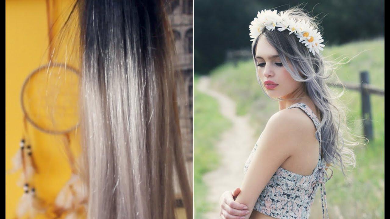 Extensiones de cabello en color gris