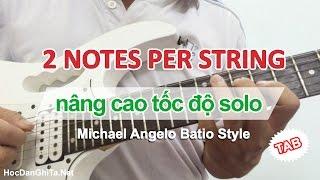 Học solo guitar điện - Bài tập nâng cao tốc độ solo 2 nốt trên 1 dây [HocDanGhiTa.Net]