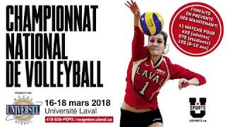 Championnat U SPORTS | volleyball féminin 2018
