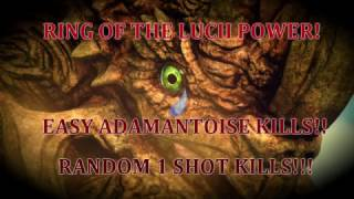 Final Fantasy XV: Ring of the Lucii vs. Adamantoise!!! 1 shot kill and more!