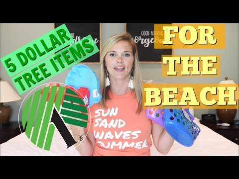 5 DOLLAR TREE BEACH ESSENTIALS // DOLLAR TREE HAUL // BEACH HACKS
