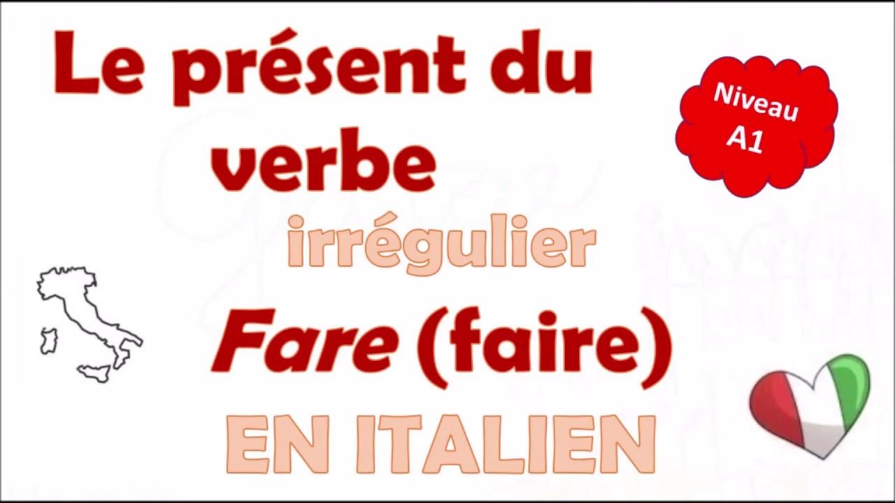 Verbo Fare Verbe Faire En Italien Lezione 32 Youtube