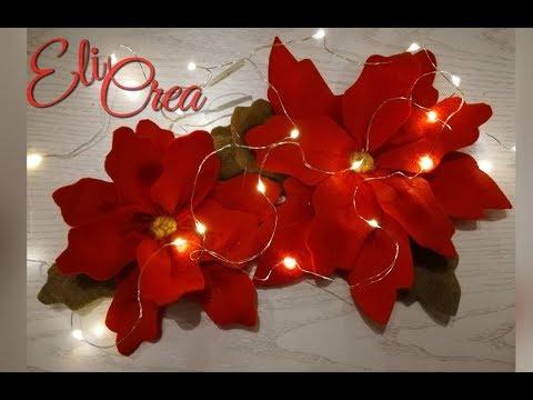 Stella Di Natale Fiore.Stella Di Natale In Feltro Cartamodello Gratuito Diy Fiore Stella Di Natale