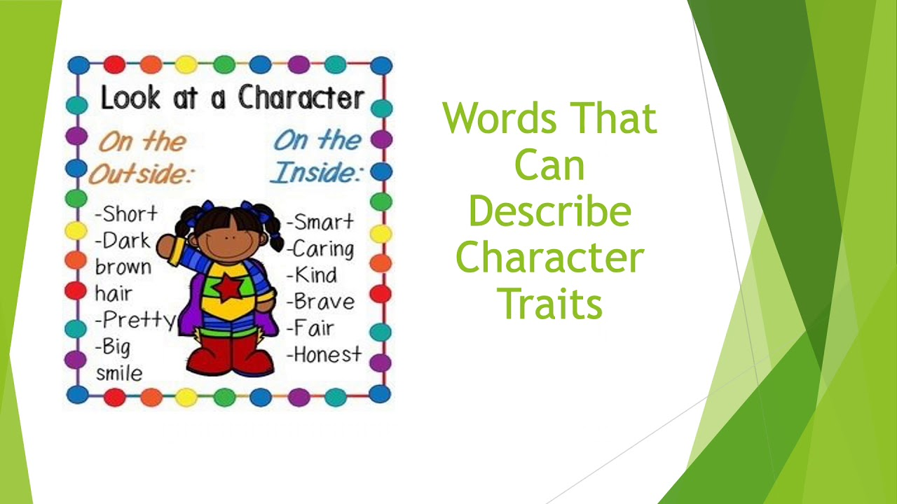 hight resolution of 2nd Grade ELA - Character Traits - YouTube