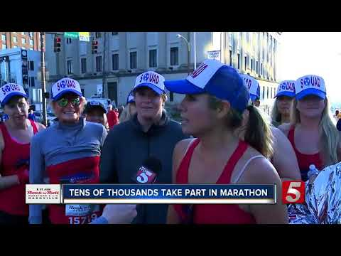 Tens Of Thousands Take Part In Marathon