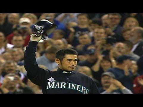 TEX@SEA: Ichiro breaks single-season hits record