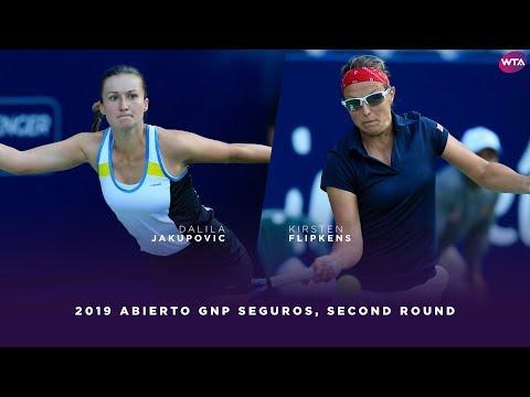 Dalila Jakupovic Vs. Kirsten Flipkens   2019 Monterrey Open Second Round   WTA Highlights