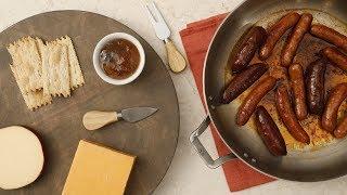 Pan-Crisped Sausages- Martha Stewart