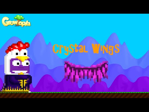 growtopia green crystal wings doovi. Black Bedroom Furniture Sets. Home Design Ideas