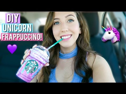 STARBUCKS UNICORN FRAPPUCCINO TASTING + DIY! | MEESH LA