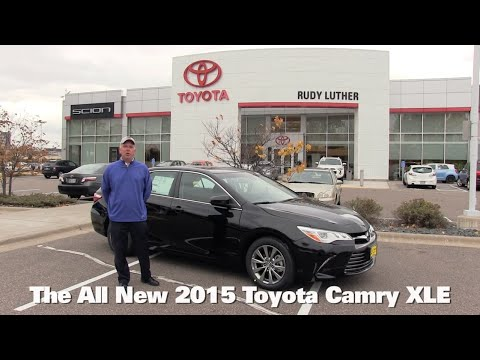 The All New 2015 Toyota Camry XLE V6 Minneapolis St Paul Golden Valley Brooklyn Park MN Walk Around