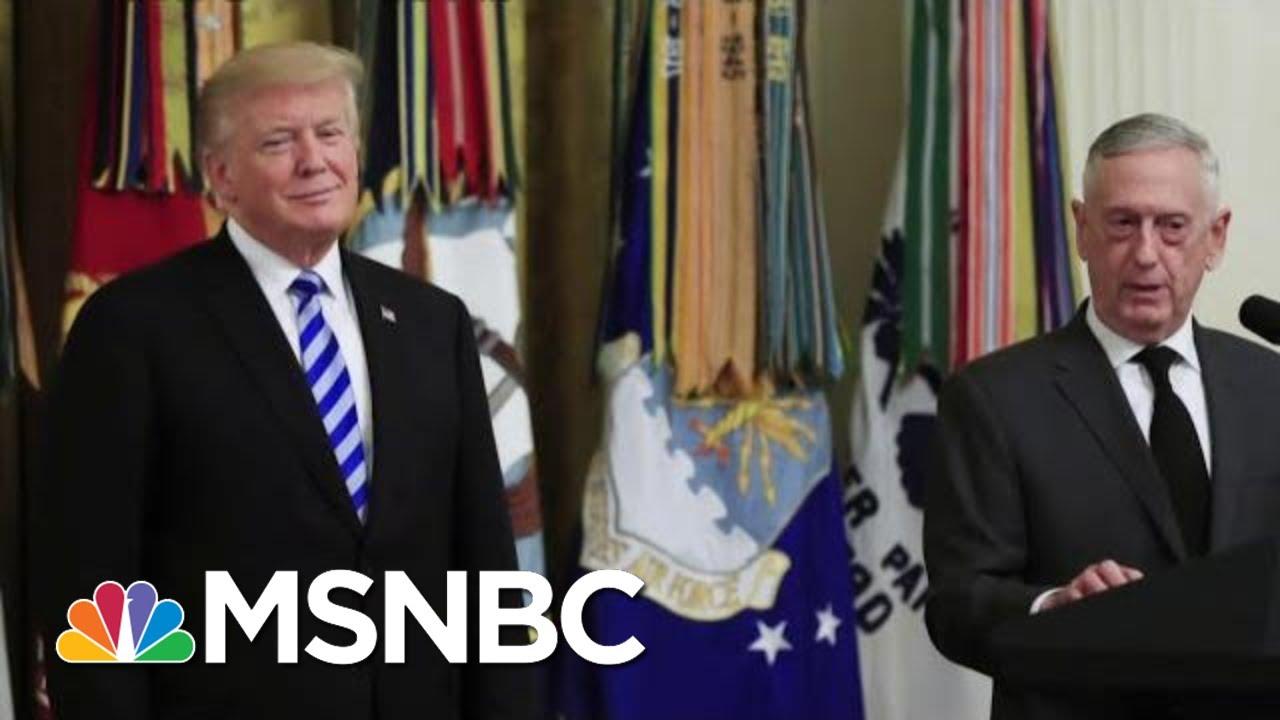 Secretary Jim Mattis: I Don't Want To Add To Corrosive Political Debate   Morning Joe   MSNBC