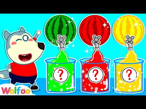 Wolfoo Learns Colors with Colorful Watermelon Juice   Wolfoo Channel Kids Cartoon